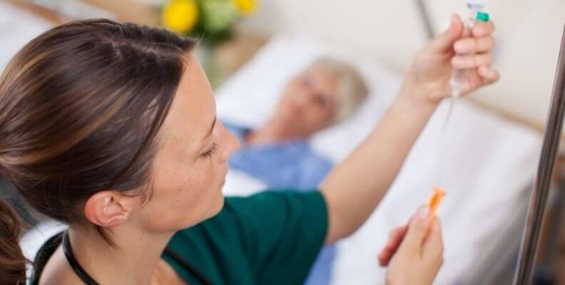 Nurse Titrating IV Drip