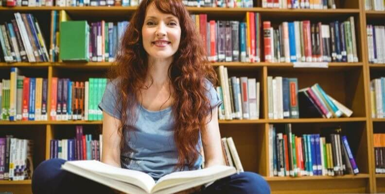 Nursing Student in Library