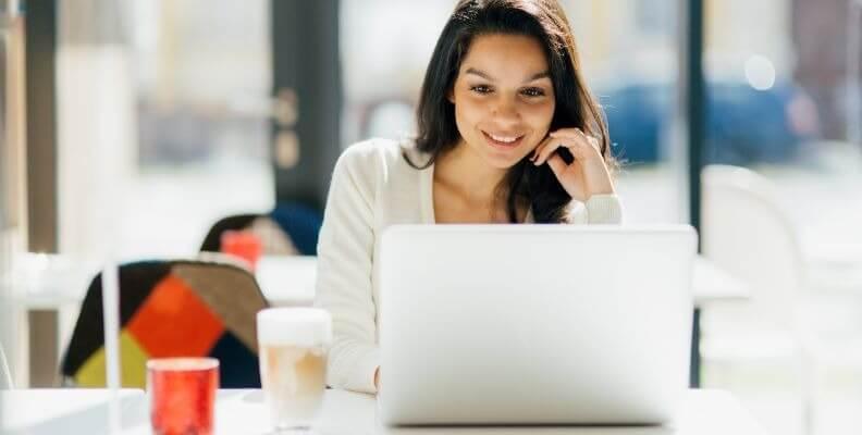 Nursing Student at Computer