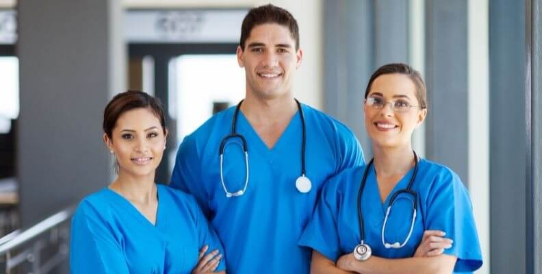 Three Nursing Students in Clinical Rotation