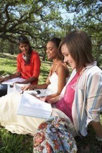 nursing students studying